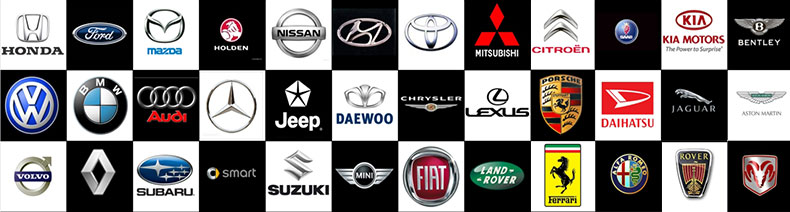 Logos of Car Companies in Header